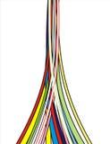 цветастые линии Стоковые Фотографии RF