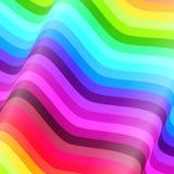 Цветастые линии vector предпосылка иллюстрация вектора