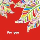цветастые листья Стоковые Фотографии RF