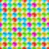 Цветастые лоснистые шарики. Безшовная текстура вектора. Стоковое фото RF