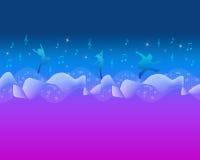 Цветастые нот и танцулька Backround Стоковые Изображения RF