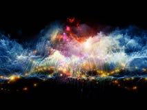 Цветастые облака фрактали Стоковое фото RF