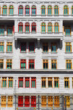 цветастые окна singapore Стоковые Изображения