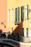 Цветастые дома в Венеция стоковое изображение rf
