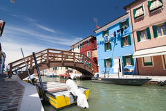 Burano, Венеция Стоковое Фото