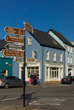 цветастые дома Улица стренги dingle Ирландия Стоковое Изображение