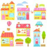 цветастые дома Стоковая Фотография