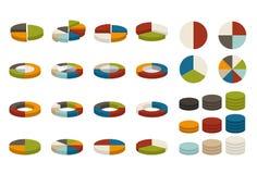 Цветастые долевые диограммы бесплатная иллюстрация