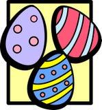 цветастые пасхальные яйца Стоковая Фотография RF