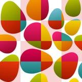 цветастые пасхальные яйца безшовные иллюстрация штока