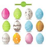 цветастые пасхальные яйца вектор Стоковые Фото