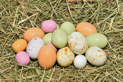 цветастые пасхальные яйца Стоковое Изображение