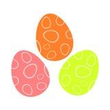 цветастые пасхальные яйца иллюстрация вектора