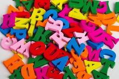 цветастые письма деревянные Стоковое Фото