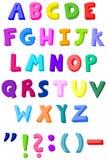 цветастые письма иллюстрация вектора