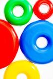 Цветастые пластичные кольца игрушки Стоковая Фотография