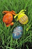 цветастые покрашенные пасхальные яйца Стоковая Фотография RF