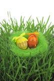 цветастые покрашенные пасхальные яйца Стоковое Изображение RF