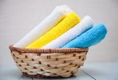 цветастые полотенца хлопка Стоковое Фото