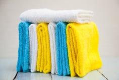 цветастые полотенца хлопка Стоковые Фотографии RF