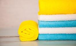 цветастые полотенца хлопка Стоковые Изображения RF
