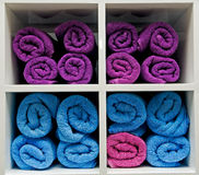 цветастые полотенца стоковое изображение rf