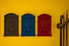 цветастые почтовые ящики Стоковое Изображение RF