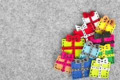 цветастые подарки стоковая фотография rf