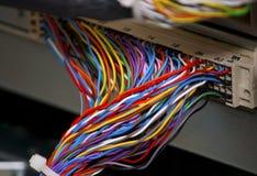 цветастые проводы телефонирования dsl Стоковые Изображения