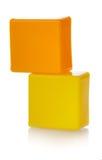 цветастые пластичные игрушки Стоковое Изображение