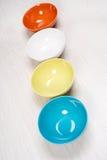 цветастые плиты Стоковые Фото