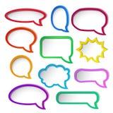 Цветастые рамки пузыря речи. Стоковые Изображения RF