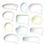 Цветастые рамки пузыря речи. Стоковая Фотография