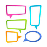 Цветастые рамки пузыря речи Стоковые Изображения RF