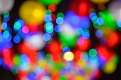 Цветастые расплывчатые света стоковая фотография rf