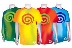 цветастые рубашки t dreamstime Стоковые Фотографии RF