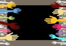 цветастые руки Стоковые Фотографии RF
