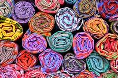 Цветастые рулоны ткани Стоковая Фотография RF