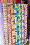 цветастые рулоны ткани Стоковые Изображения