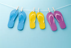 цветастые сандалии Стоковое Изображение RF