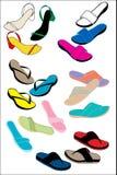 цветастые сандалии Стоковая Фотография