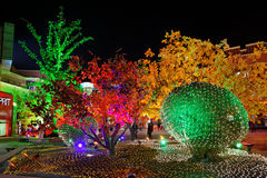 Цветастые света на Новый Год Стоковое Изображение RF