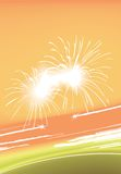цветастые света феиэрверков Стоковые Изображения RF