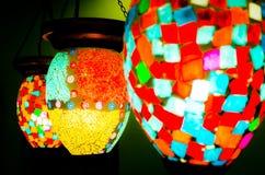Цветастые светильники Стоковые Фото