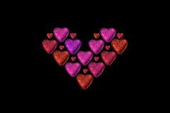 цветастые сердца дня больше valentines Стоковые Изображения