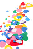 цветастые сердца пены confetti Стоковые Фотографии RF