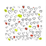 цветастые сердца Стоковое фото RF