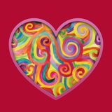 цветастые сердца Стоковые Фото