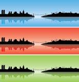 цветастые силуэты istanbul Стоковое Изображение RF