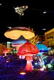 Цветастые скульптуры на Новый Год стоковые фотографии rf